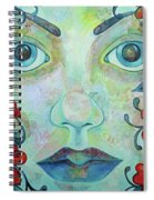 The Face Of Persephone I Spiral Notebook