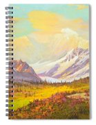 The Fall Colors Of Alaska Route 8 No.3 Spiral Notebook