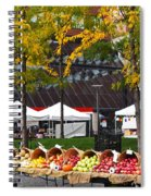 The Fall Harvest Is In Kendall Square Farmers Market Foliage Spiral Notebook