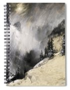 The Falling Flakes Mountain Scene. Yosemite A Mountain Snowfall Spiral Notebook