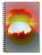 The Falling Sun  Spiral Notebook