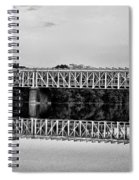 The Falls Bridge From Kelly Drive Spiral Notebook