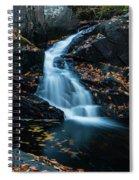 The Falls Of Black Creek In Autumn II Spiral Notebook