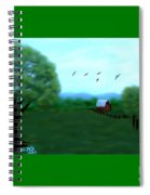 The Farm Below The Mountains Spiral Notebook