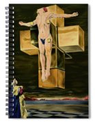 The Father Is Present -after Dali- Spiral Notebook