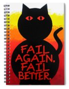 The Fearline Of Failure Spiral Notebook