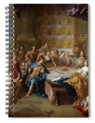 The Feast Of Dido And Aeneas. An Allegorical Portrait Of The Family Of The Duc And Duchesse Du Maine Spiral Notebook