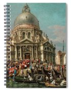 The Feast Of The Madonna Della Salute In Venice Spiral Notebook
