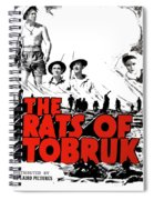 The Fighting Rats Of Tobruk  Theatrical Poster 1944 Color Added 2016 Spiral Notebook