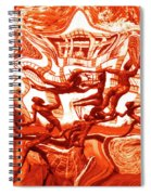 The Fire Dance Down Below Spiral Notebook