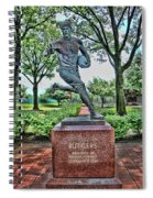 The First Football Game Monument Spiral Notebook