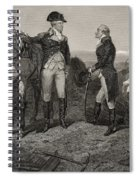 The First Meeting Of George Washington And Alexander Hamilton Spiral Notebook