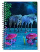 The First Time We Saw Horses Spiral Notebook