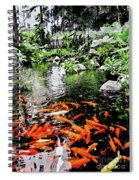 The Fish Pond At Thailand Spiral Notebook