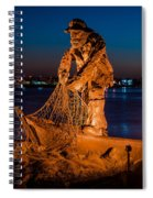 The Fisherman After Nightfall Spiral Notebook