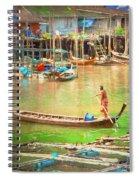 The Floating Village Spiral Notebook