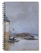 The Flood At Port Marly Spiral Notebook