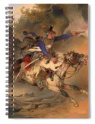The Foraging Hussar 1840 Spiral Notebook