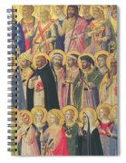 The Forerunners Of Christ With Saints And Martyrs Spiral Notebook