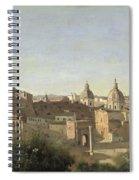 The Forum Seen From The Farnese Gardens Spiral Notebook