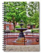 The Fountain At Radford University Spiral Notebook