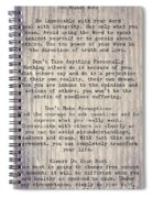 The Four Agreements 6 Spiral Notebook