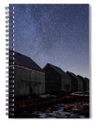 The Four Barns Of Drumheller Spiral Notebook