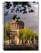 The Four Courts In Reconstruction Spiral Notebook