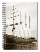 The Four-masted Barkentine  Jane Stanford Built By Hans Bendixse 1892 Spiral Notebook