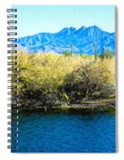 The Four Peaks From Saguaro Lake Spiral Notebook
