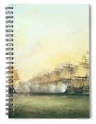 The Fourth Action Off Trincomalee Between The English And The French Spiral Notebook