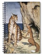 The Fox And The Leopard Spiral Notebook