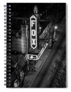 The Fox Thearter Bw Atlanta Night Art Spiral Notebook