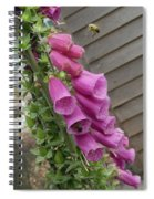 The Foxglove And The Bumble Bees Spiral Notebook