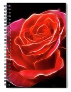 The Fractalius Rose Spiral Notebook