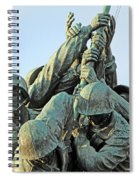 The Front Up Close -- The Iwo Jima Monument Spiral Notebook