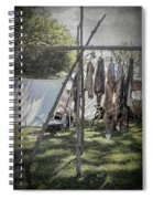 The Fur Trader's Camp 1812 Spiral Notebook