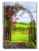 The Garden At The Winery Spiral Notebook