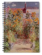 The Garden At Vetheuil Spiral Notebook