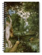 The Garden Of Eden With The Fall Of Man Spiral Notebook