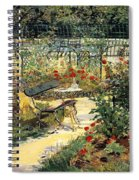 The Garden Of Manet Spiral Notebook