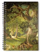 The Garden Of The Magician Klingsor, From The Parzival Cycle, Great Music Room Spiral Notebook