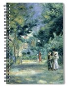 The Gardens In Montmartre Spiral Notebook