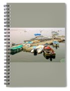 The Gathering At Southwest Harbor Spiral Notebook