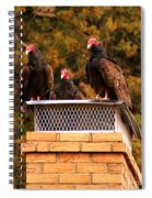 The Gathering Of Vultures Spiral Notebook