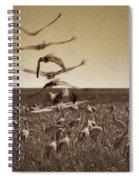The Gathering - Sandhill Cranes Spiral Notebook
