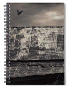 The Gathering - Vultures Above An Old Barn Spiral Notebook