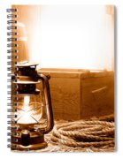 The General Store Backroom - Sepia Spiral Notebook
