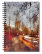 The Girl On The Path Spiral Notebook