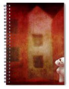 The Girl With Teddy Bear Spiral Notebook
